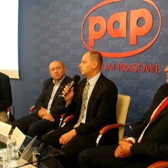 Na zdjęciu od lewej: Leszek Cieślik, Stanisław Wodyński, Andrzej Sroczyński, Jacek Patro
