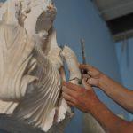 Prace konserwatoreskie w Muzeum w Palmyrze