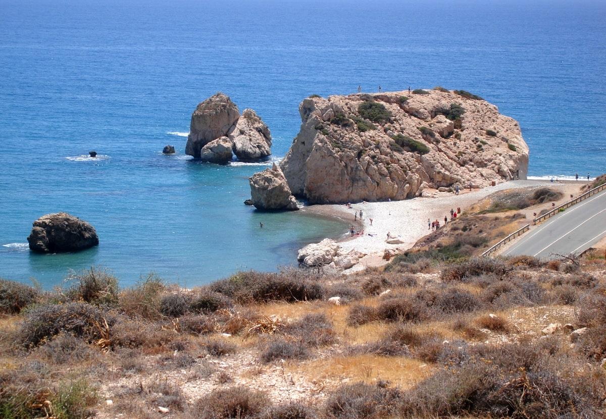 Petra Tou Romiou na Cyprze
