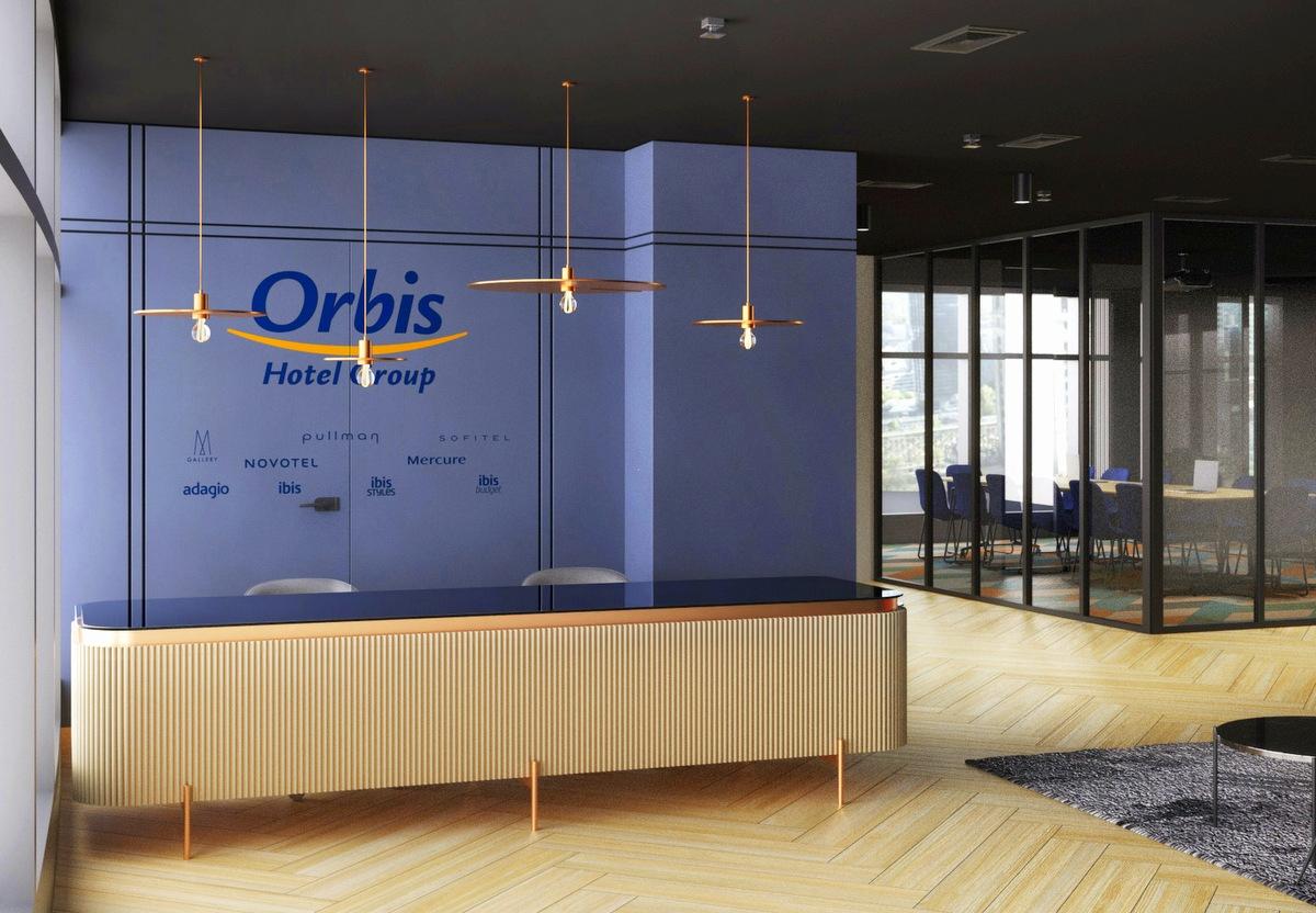 Recepcja biura Orbisu