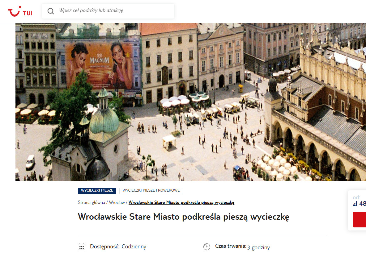 tui rynek krakowski wycieczka wroclaw