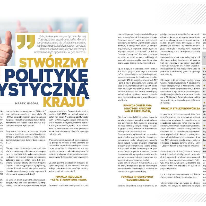Marek Migdal Stwórzmy politykę turystyczną