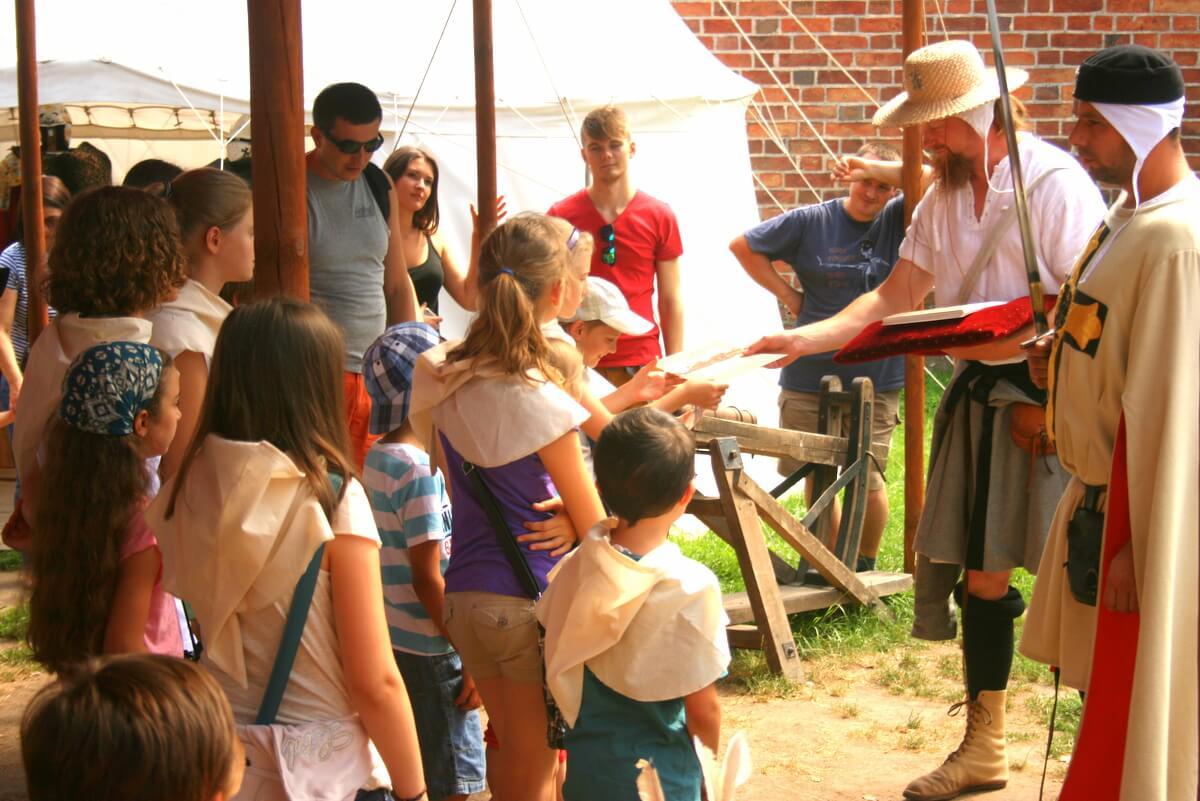 Dzieci na Zamku w Malborku