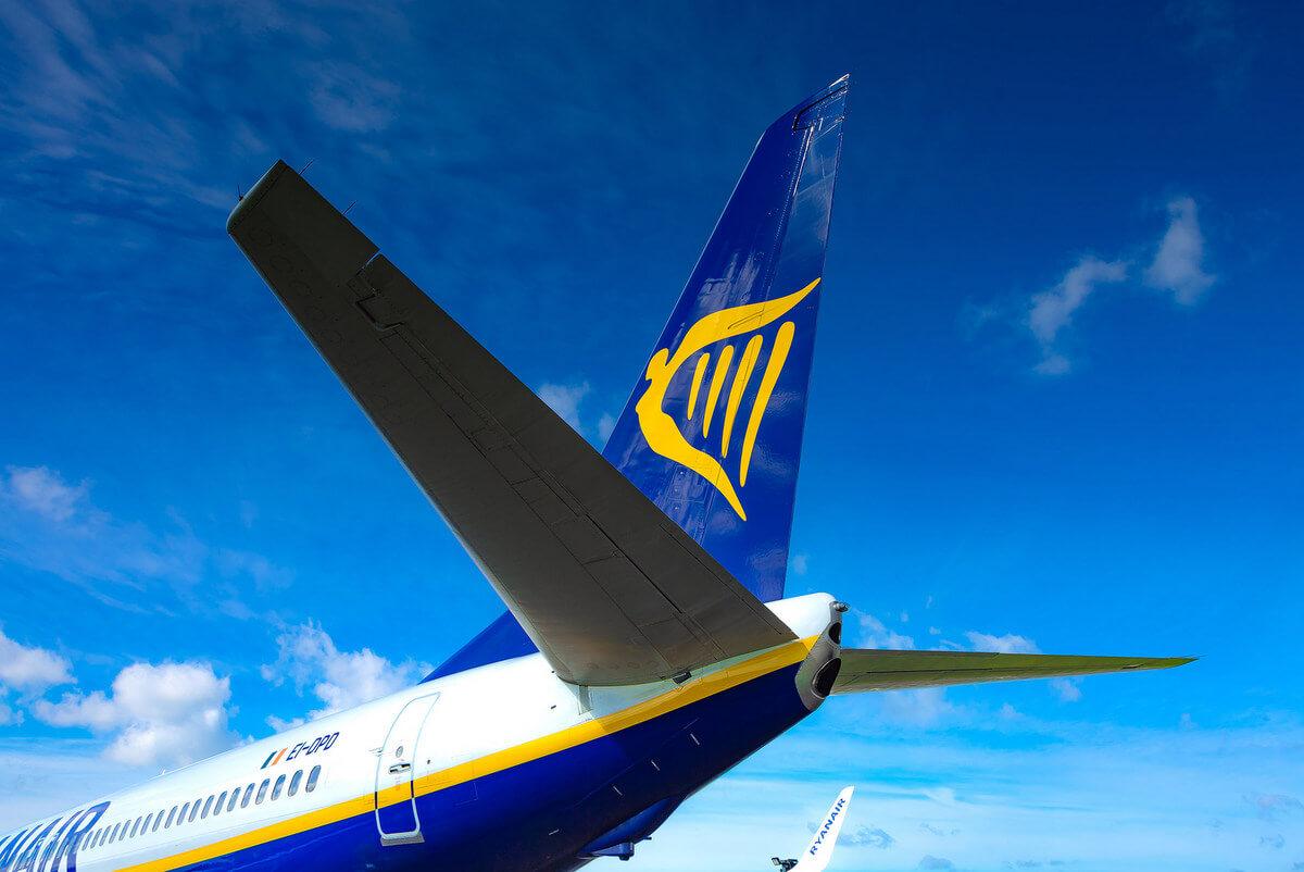 Samolot w barwach Ryanaira