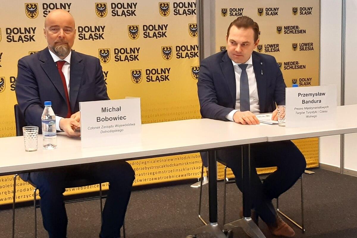 Michał Bobowiec i Przemysław Bandura podczas konferencji prasowej