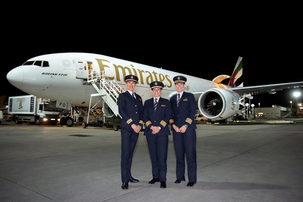 Kobieca załoga samolotu Emirates