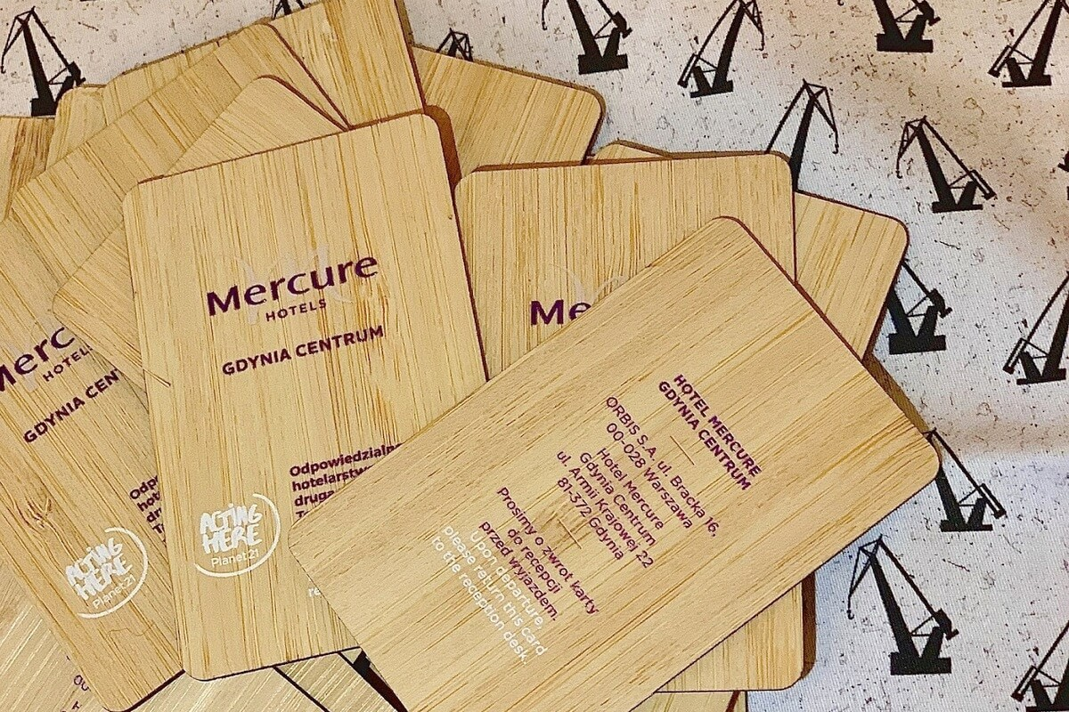 Karty bambusowe hotelu Mercure Gdynia Centrum