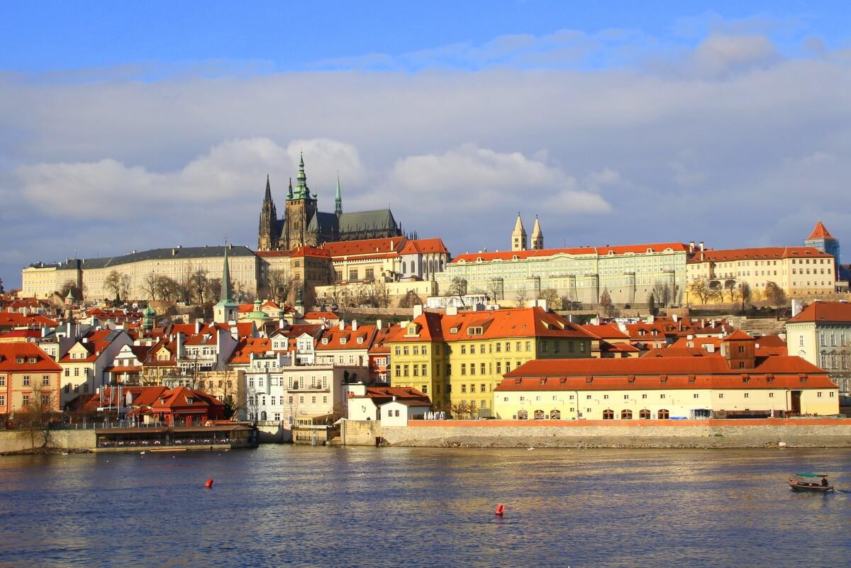 Panorama wzgórza Hradczany w Pradze