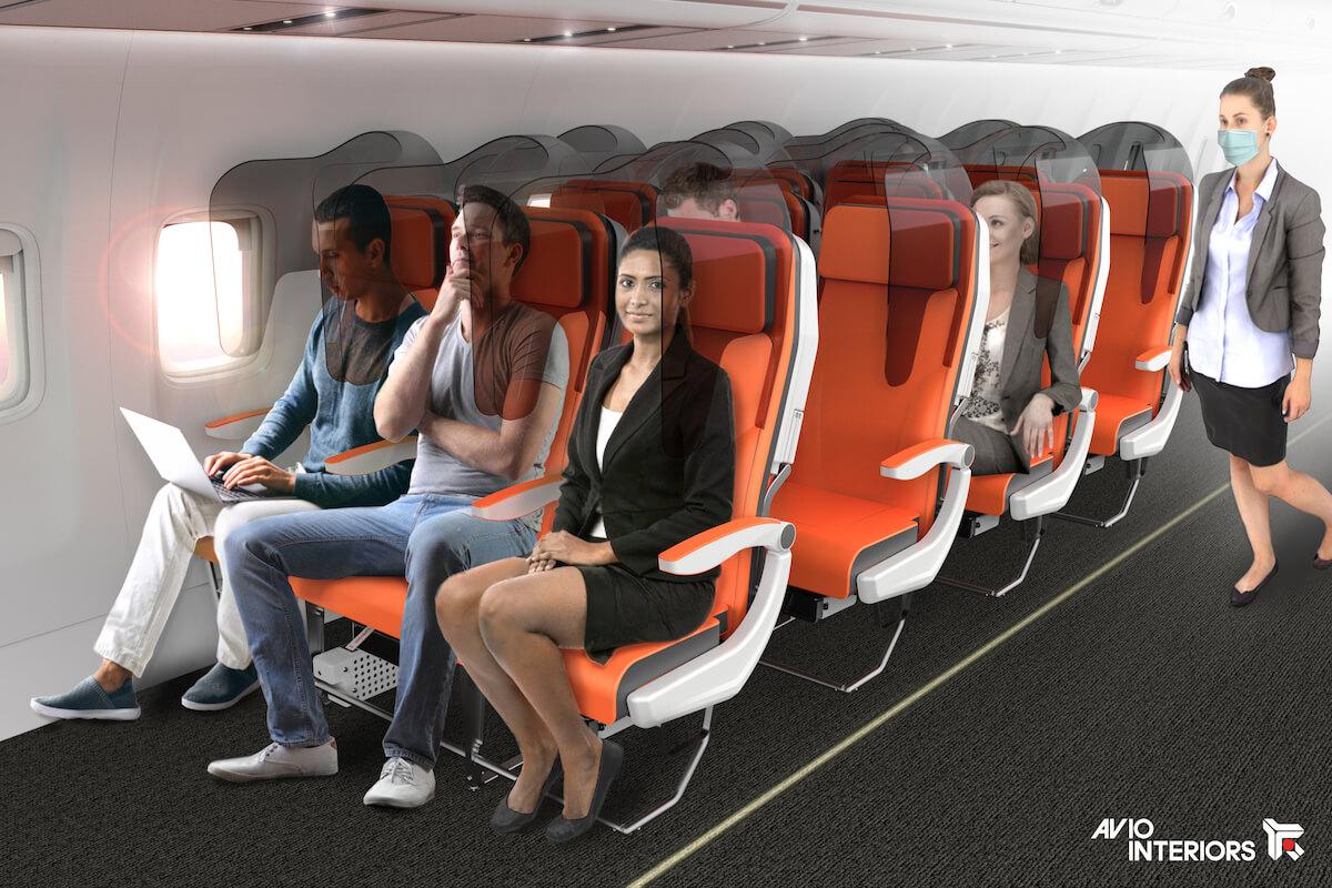 glassafe oddzielenie siedzeń w samolotach
