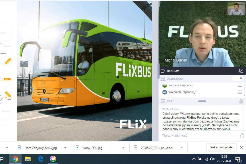 Telekonferencja FlixBusa