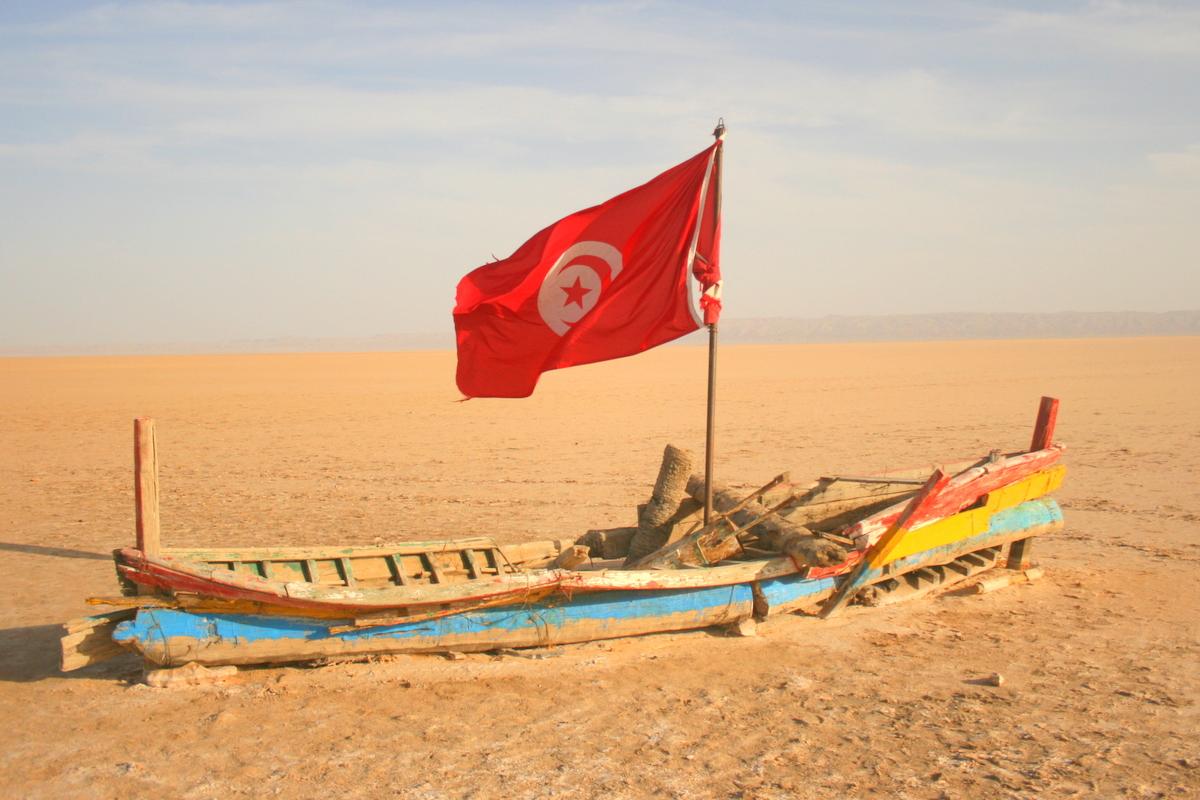 Jezioro słone w Tunezji