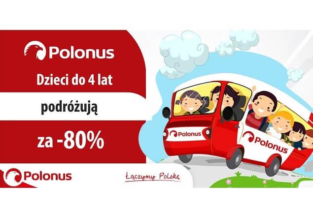 Małe dzieci podróżują Polonusem dużo taniej