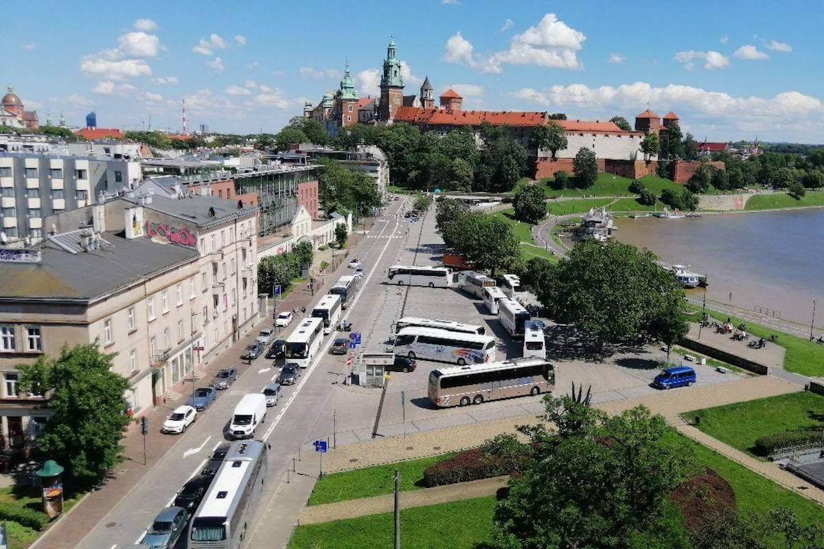 Kraków protest autokar
