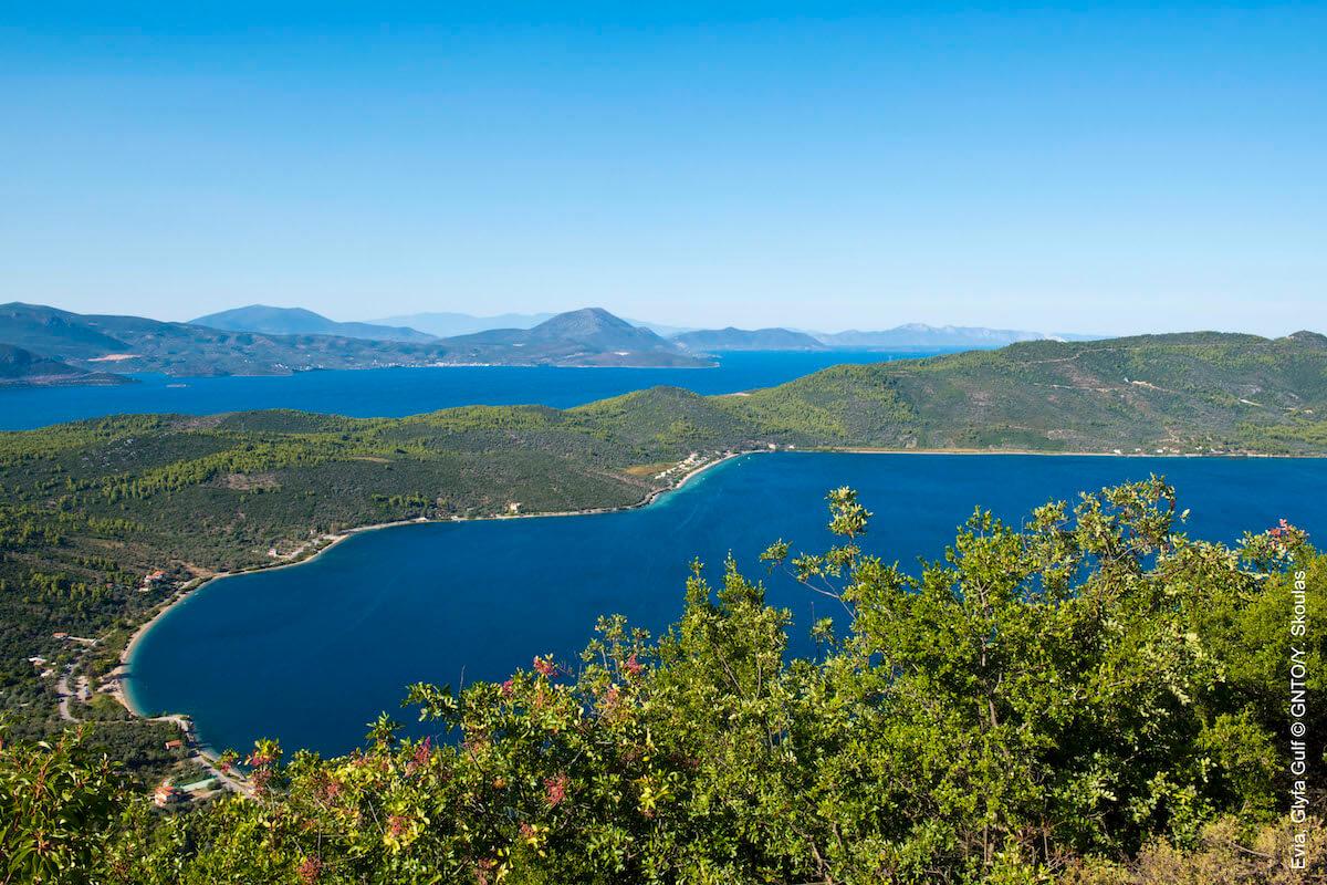 Evia, zatoka Glyfa