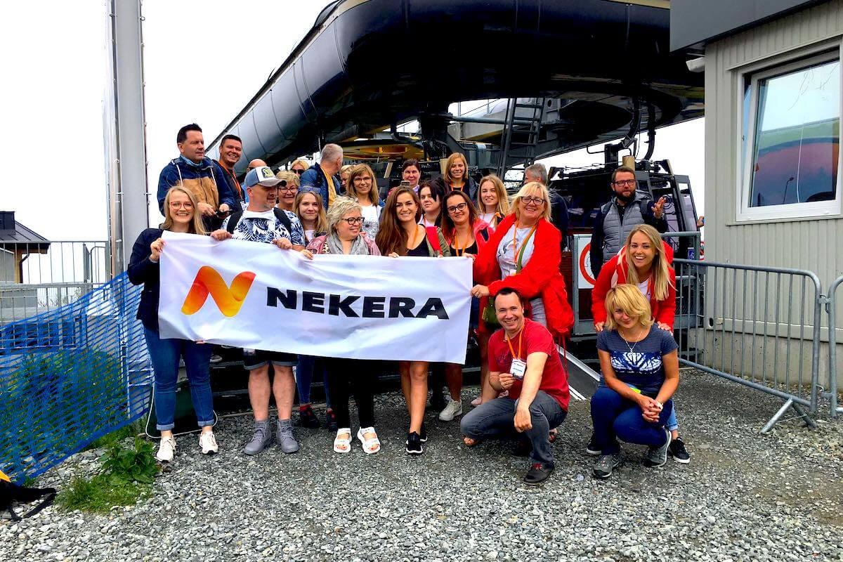 Agenci Nekera na Skrzycznem w Beskidzie Śląskim