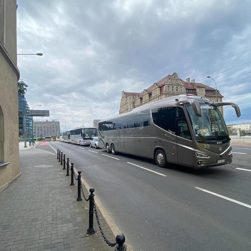 protest przewoźników autokarowych w Poznaniu