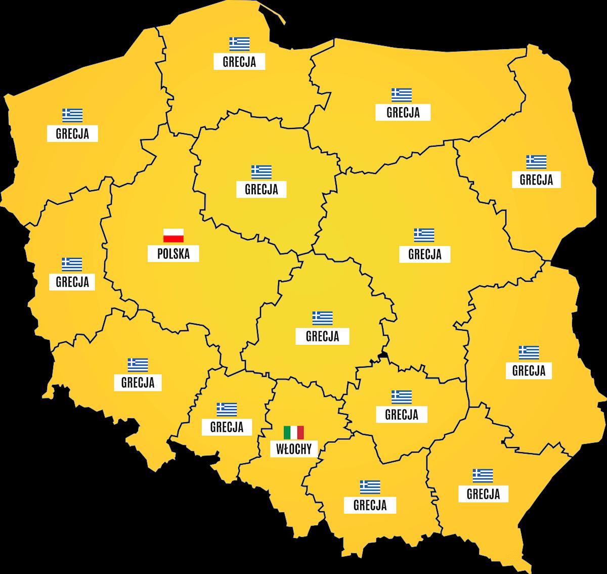 Wakacje.pl najpopularniejsze kierunki