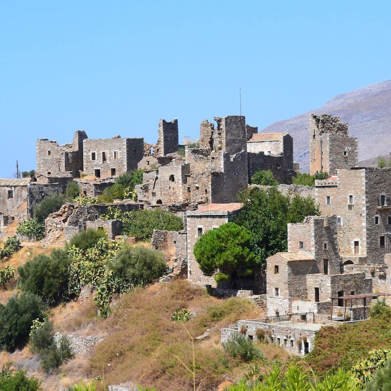 Peloponez osada Vathia w Grecji