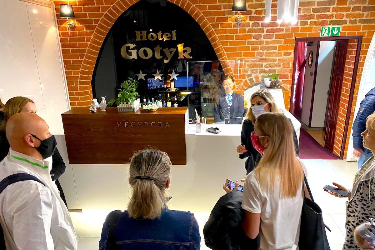 Lobby hotelu Gotyk