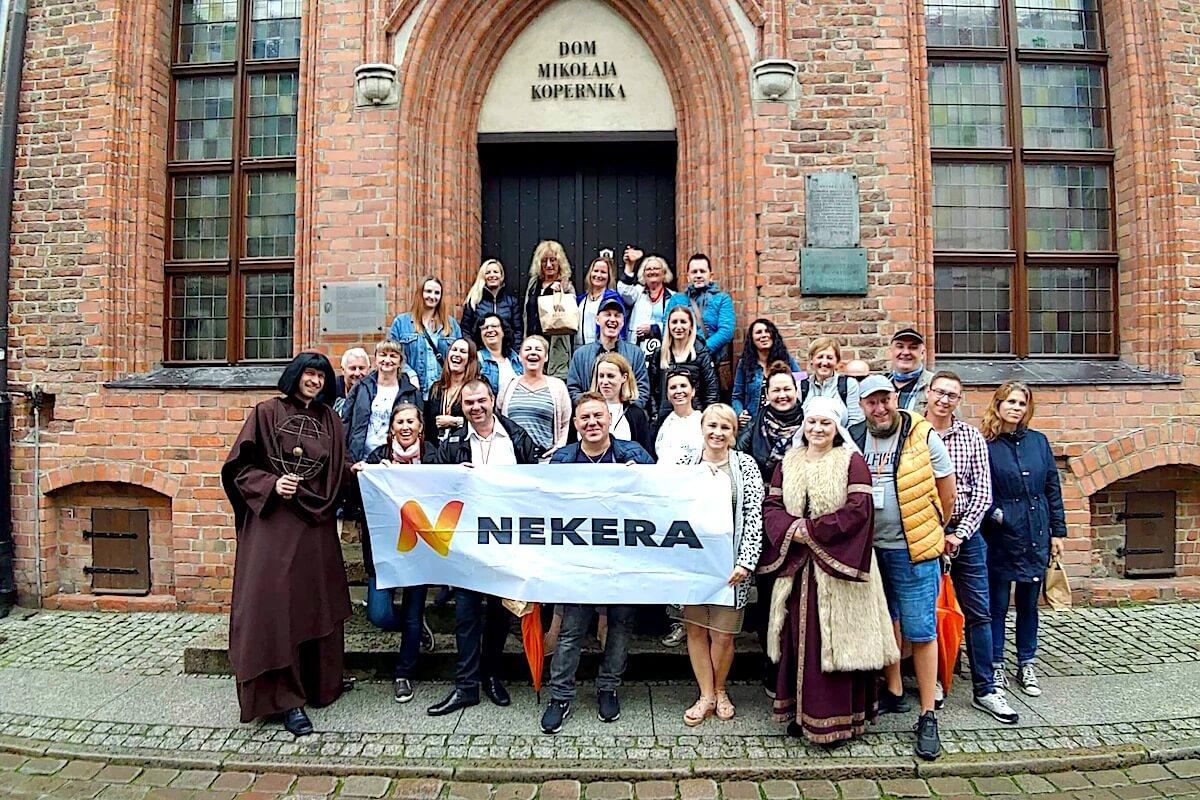 Agenci Nekera na spotkaniu z Kopernikiem / fot AG.