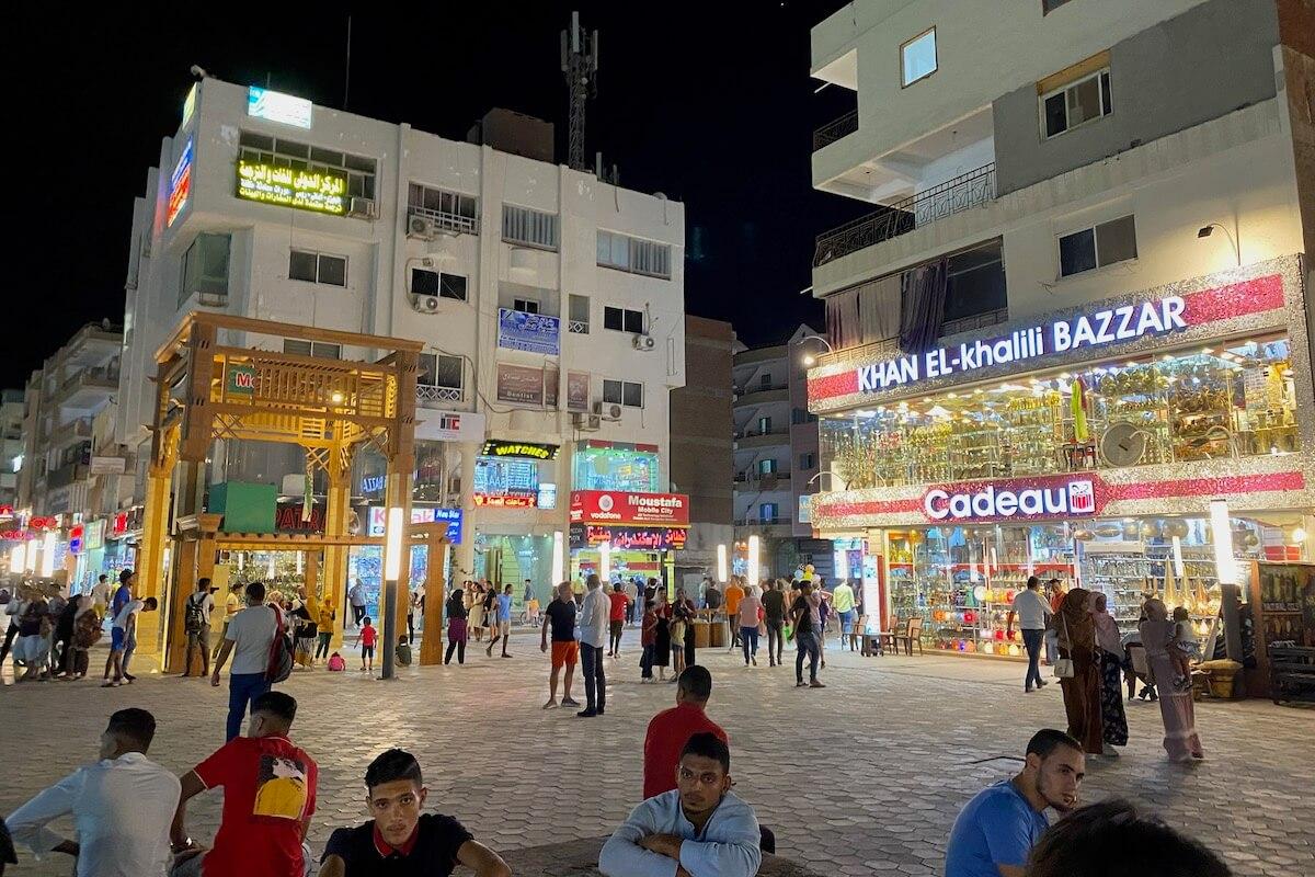 Hurghada nocą wrzesień 2020