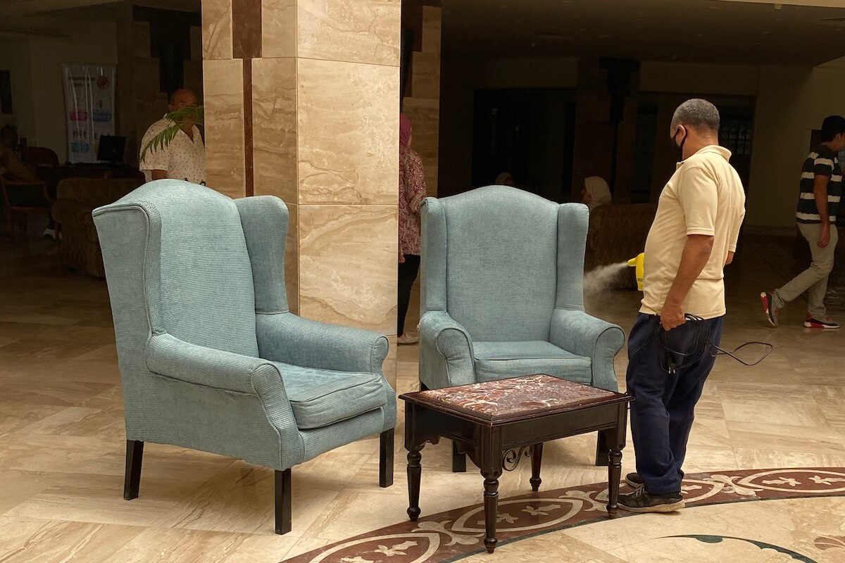 Ozonowanie przestrzeni w lobby Siva Grand Beach