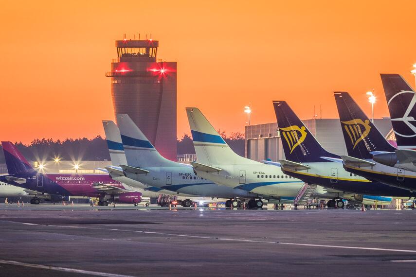 Gorszy październik lotniska w Katowicach