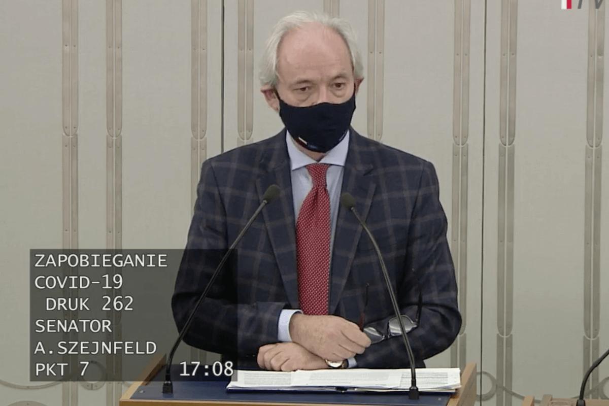 """Senator Adam Szejnfeld prezentuje założenia """"tarczy 6.0"""""""