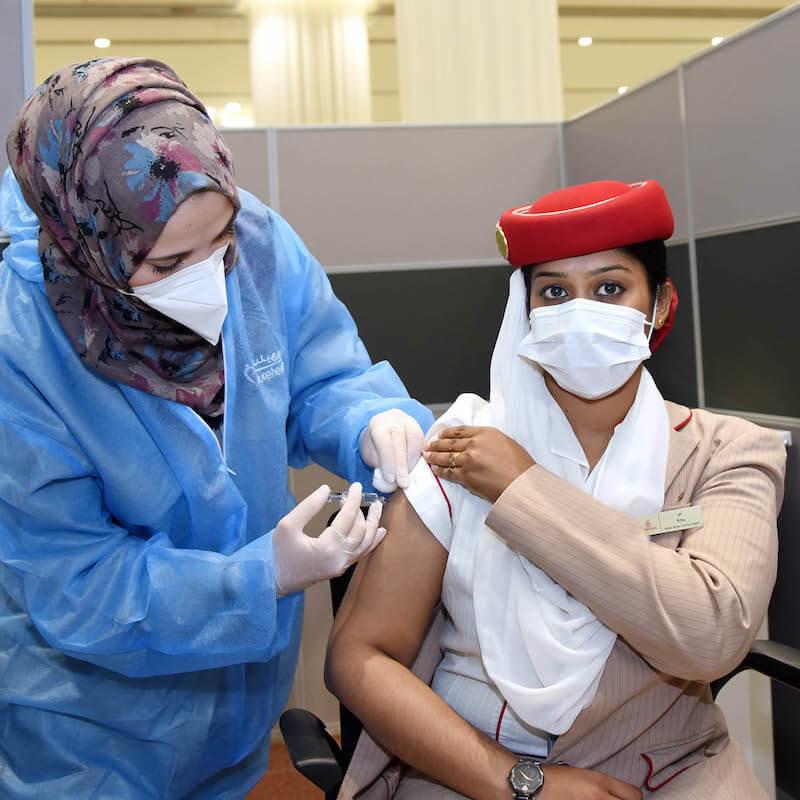 emirates program szczepień ZEA
