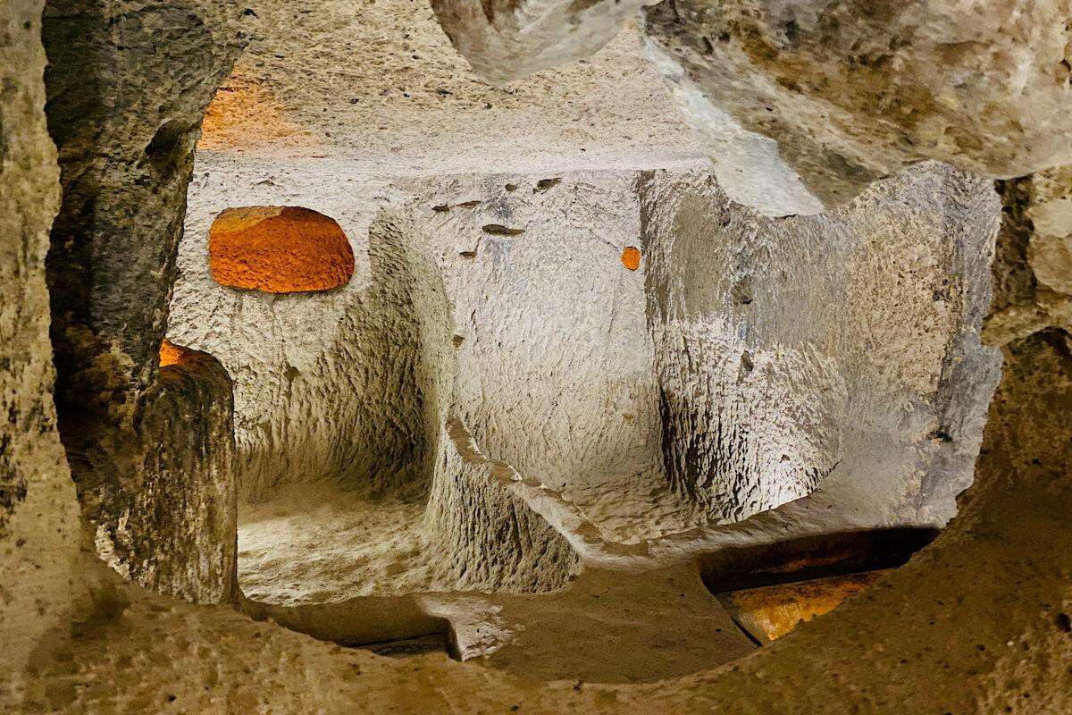 Podziemne miasto Kaymakli Kapadocja Turcja