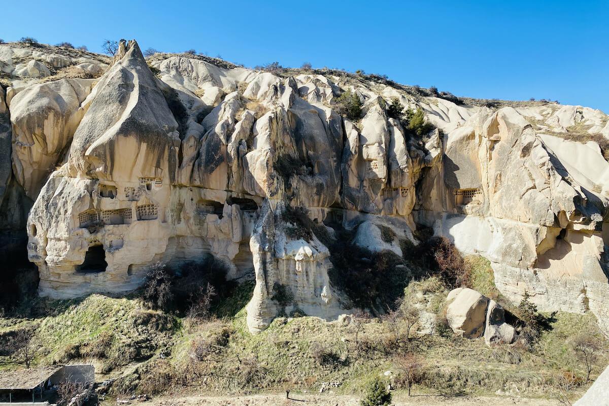 Goreme Muzeum na otwartym powietrzu kościoły skalne Kapadocja Turcja