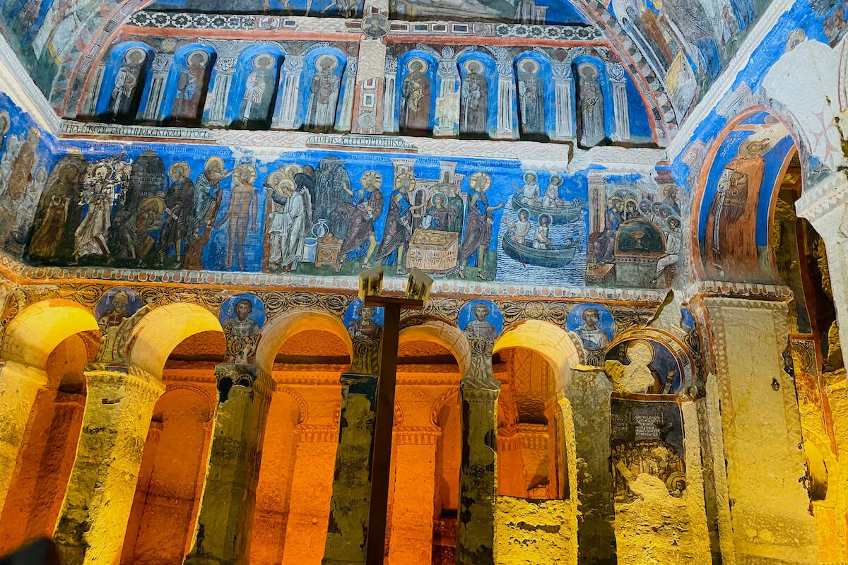 Göreme freski w kościele skalnym Kapadocja Turcja