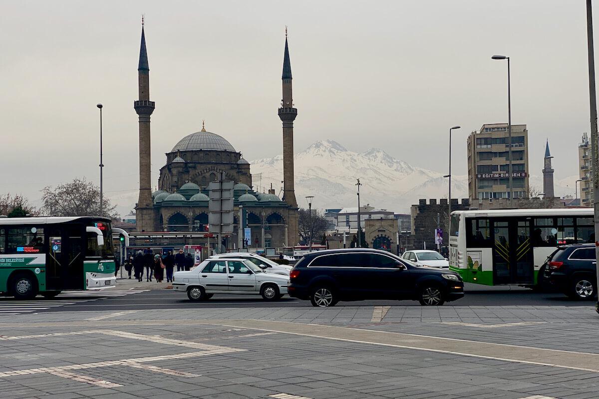 Kayseri z widokiem na Erciyes Turcja