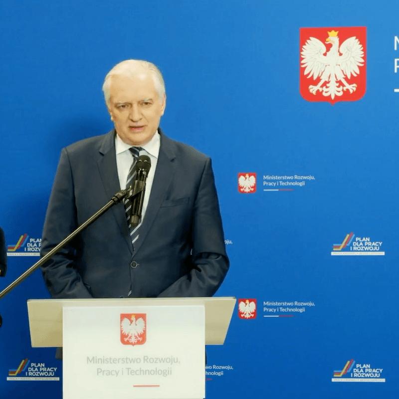Jarosław Gowin certyfikat dla zaszczepionych
