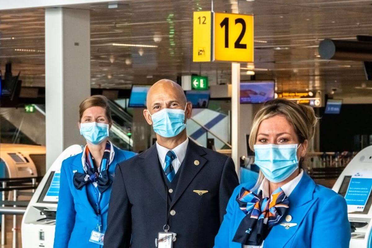 KLM najbardziej dbającą o higienę linią lotniczą