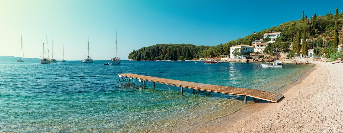Plaża Kalami na Korfu