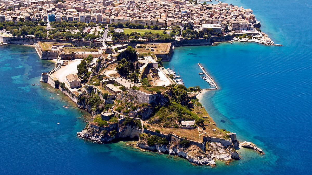 Widok na Starą Twierdzę na Korfu