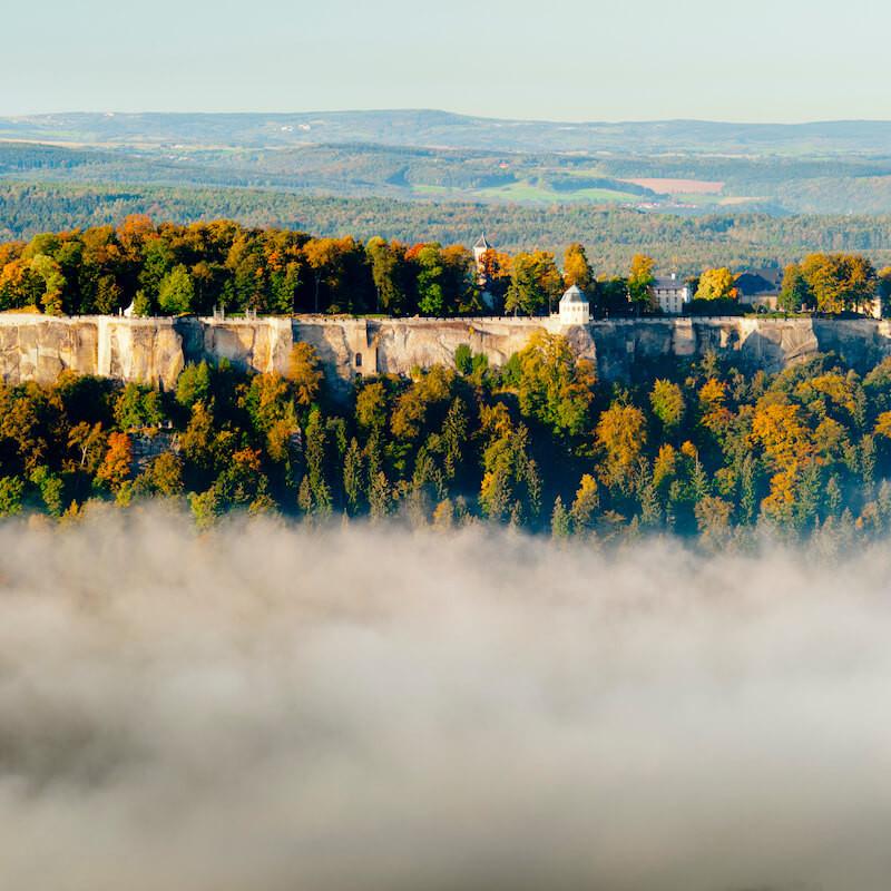 Widok na twierdzę Konigstein