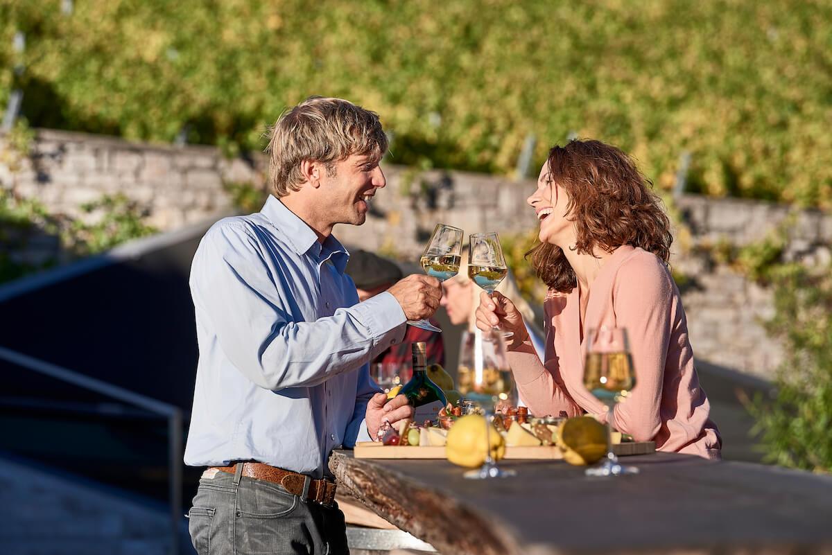 Degustacja wśród krajobrazu winnic